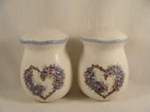Noel  ~  SALT & PEPPER ... Blue/Rose Heart Flower  *  NEW From Our Shop