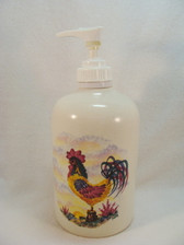 Noel  ~  LOTION/SOAP DISPENSER ... Rooster Design  *  NEW From Shop