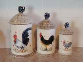 Enesco's Isabelle ... ROOSTER CANISTER SET  *  NEW From Our Shop