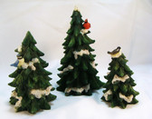 Enesco  ~  FOREST FROLIC EVERGREEN TREES ... Set of 3  *  NIB