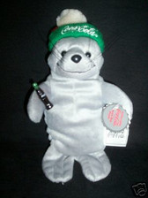 COCA COLA  SEAL IN SKI CAP ~~~ Beanie Bag Plush  *  MWT