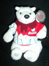 COCA COLA POLAR BEAR IN RED GOLF SHIRT *  Plush * MWT