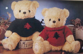 Cherished Teddies  ~  XMAS PLUSH BEAR ... John & Jennifer * NWT