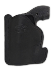 "New Black Leather Concealment Pocket Gun Holster for 2"", Snub-Nose .38 .357 Revolvers (#PO2BL)"