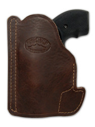 "New Brown Leather Concealment Pocket Gun Holster for 2"", Snub-Nose .38 .357 Revolvers (#PO2BR)"