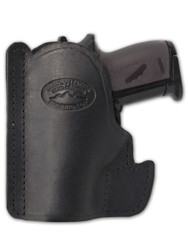 New Black Leather Concealment Pocket Gun Holster for Mini/Pocket.22 .25 .380 .32 Pistols (#PO49BL)