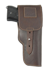 New Brown Leather Flap Gun Holster for Full Size 9mm 40 45 Pistols (202FBR)