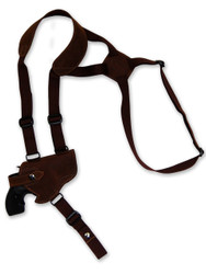 "New Brown Leather Horizontal Cross Harness Concealment Gun Shoulder Holster for 2-3"" Snub Nose Revolvers (63/2BR)"