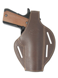 New Brown Leather Concealment Pancake Gun Holster for Full Size 9mm 40 45 Pistols  (#58-5BR)