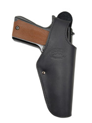 New Black Leather OWB Side Gun Holster for Full Size 9mm 40 45 Pistols (#15BL)