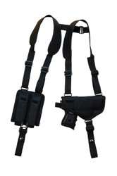 New Horizontal Gun Shoulder Holster with Double Magazine Pouch for Compact 9mm 40 45 (#NY22)