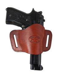 New Burgundy Leather Belt Quick Slide Gun Holster for Full Size 9mm 40 45 (#108FBU)