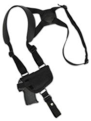 New Horizontal Cross Harness Gun Shoulder Holster for 380 Ultra-Compact 9mm 40 45 Pistols (#47sHOR)