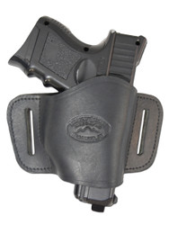 New Black Leather Belt Quick Slide Gun Holster for Compact Sub-Compact 9mm 40 45 (#108CBL)