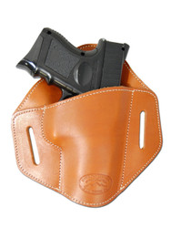New Saddle Tan Leather Pancake Belt Slide Gun Holster for Compact Sub Compact 9mm 40 45 Pistols (#222/4ST)
