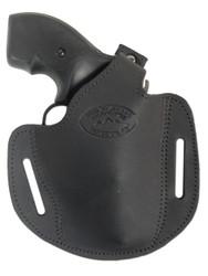 """New Black Leather Pancake Gun Holster for .22 .38 .357 2"""" Revolvers (#54BL)"""