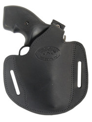 "New Black Leather Pancake Gun Holster for .22 .38 .357 2"" Revolvers (#54BL)"