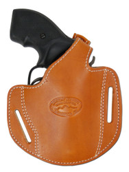 "New Tan Leather Pancake Gun Holster for .22 .38 .357 2"" Revolvers (#54ST)"