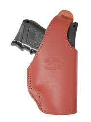 New Burgundy Leather OWB Side Gun Holster for Compact Sub-Compact 9mm 40 45 (#16BU)