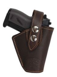 New Brown Leather OWB Belt Gun Holster for Mini .22 .25 .32 .380 Pistols (#10BR)