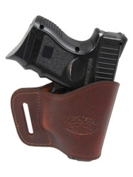 New Burgundy Leather Yaqui Gun Holster for Compact Sub-Compact 9mm 40 45 Pistols (#20BU)