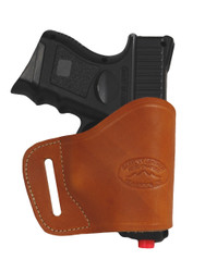 New Saddle Tan Leather Yaqui Gun Holster for Compact Sub-Compact 9mm 40 45 Pistols (#20ST)