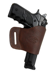 New Brown Leather Yaqui Gun Holster for Full Size 9mm 40 45 Pistols (#21BR)