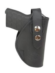 New Black Leather OWB Belt Gun Holster for .380, Ultra-Compact 9mm 40 45 Pistols (#12BL)