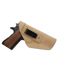 New Natural Tan Leather Inside the Waistband Holster for Full Size 9mm 40 45 Pistols (#68-32NT)