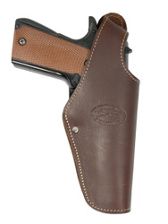 New Brown Leather OWB Side Gun Holster for Full Size 9mm 40 45 Pistols (#15BR)