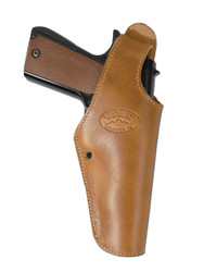 New Saddle Tan Leather OWB Side Gun Holster for Full Size 9mm 40 45 Pistols (#15ST)