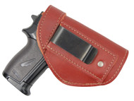New Burgundy Leather Inside the Waistband Gun Holster for Mini/ Pocket 22 25 32 380 Pistols (#68/4sBU)