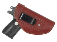 New Burgundy Leather Inside the Waistband Holster for Small 380, Ultra Compact 9mm 40 45 Pistols (#68/4BU)