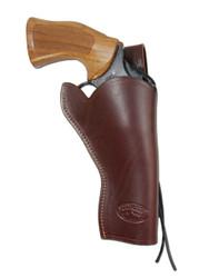"""New Burgundy Leather 49er Style Gun Holster for 4"""" Revolvers (#444BU)"""