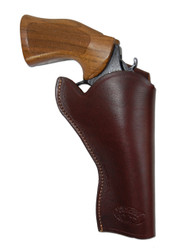 "New Burgundy Leather Cross Draw Gun Holster for 4"" Revolvers (#CR4BU)"