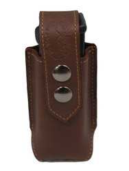 New Brown Leather Single Magazine Pouch (#BR1MAG)