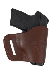 New Brown Leather Yaqui Gun Holster for Small 380 Ultra Compact 9mm 40 45 Pistols (#19BR)