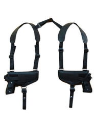New Concealment Horizontal 2 Gun Shoulder Holster for Full Size 9mm 40 45 Pistols (#2X32)