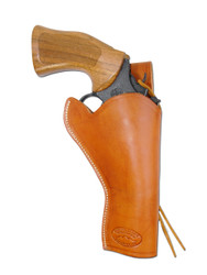 "New Saddle Tan Leather 49er Style Gun Holster for 4"" Revolvers (#444ST)"