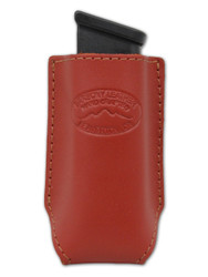 New Burgundy Leather Single Magazine Pouch (#CBU1MAG)