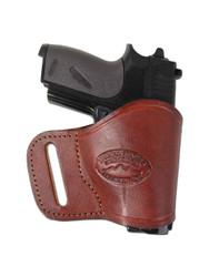 New Burgundy Leather Yaqui Gun Holster for Mini/ Pocket 22 25 32 380 Pistols (#19MBU)