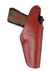 New Burgundy Leather OWB Side Gun Holster for Full Size 9mm 40 45 Pistols (#15BU)