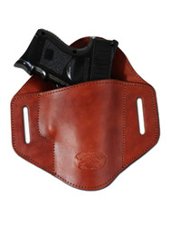 New Burgundy Leather Pancake Belt Slide Gun Holster for Compact Sub Compact 9mm 40 45 Pistols (#222/4BU)