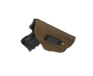 New Olive Drab Leather Inside the Waistband Gun Holster for Compact Sub-Compact 9mm 40 45 with LASER (#68-22ODL)