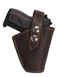New Brown Leather OWB Belt Gun Holster for Mini .22 .25 .32 .380 Pistols with LASER (#L10BR)