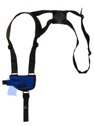 New Horizontal Cross Harness Gun Shoulder Holster for Mini/Pocket .22 .25 .32 .380 Pistols with LASER (#L49HOR)