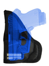 New Concealment Pocket Gun Holster for Mini/Pocket .22 .25 .380 .32 Pistols with LASER (LPO49NY)