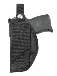 New Cross Draw Outside the Waistband (OWB) Gun Holster for .380, Ultra Compact 9mm 40 45 Pistols with LASER (#LCR42)