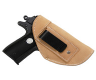 New Natural Tan Leather Inside the Waistband Gun Holster for .380 Ultra Compact 9mm .40 .45 Pistols with LASER (#L68-42NT)