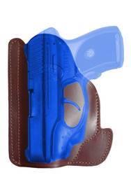New Burgundy Leather Concealment Pocket Gun Holster for Compact 9mm .40 .45 Pistols with LASER (#LPO22BU)